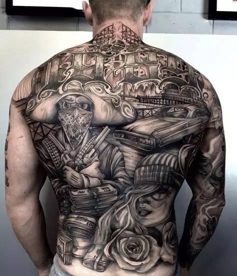 花体字纹身|广州刺青店|花体刺青图片