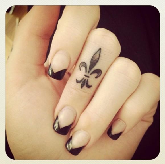 广州纹身 | 明星们都会纹的地方——手指图片