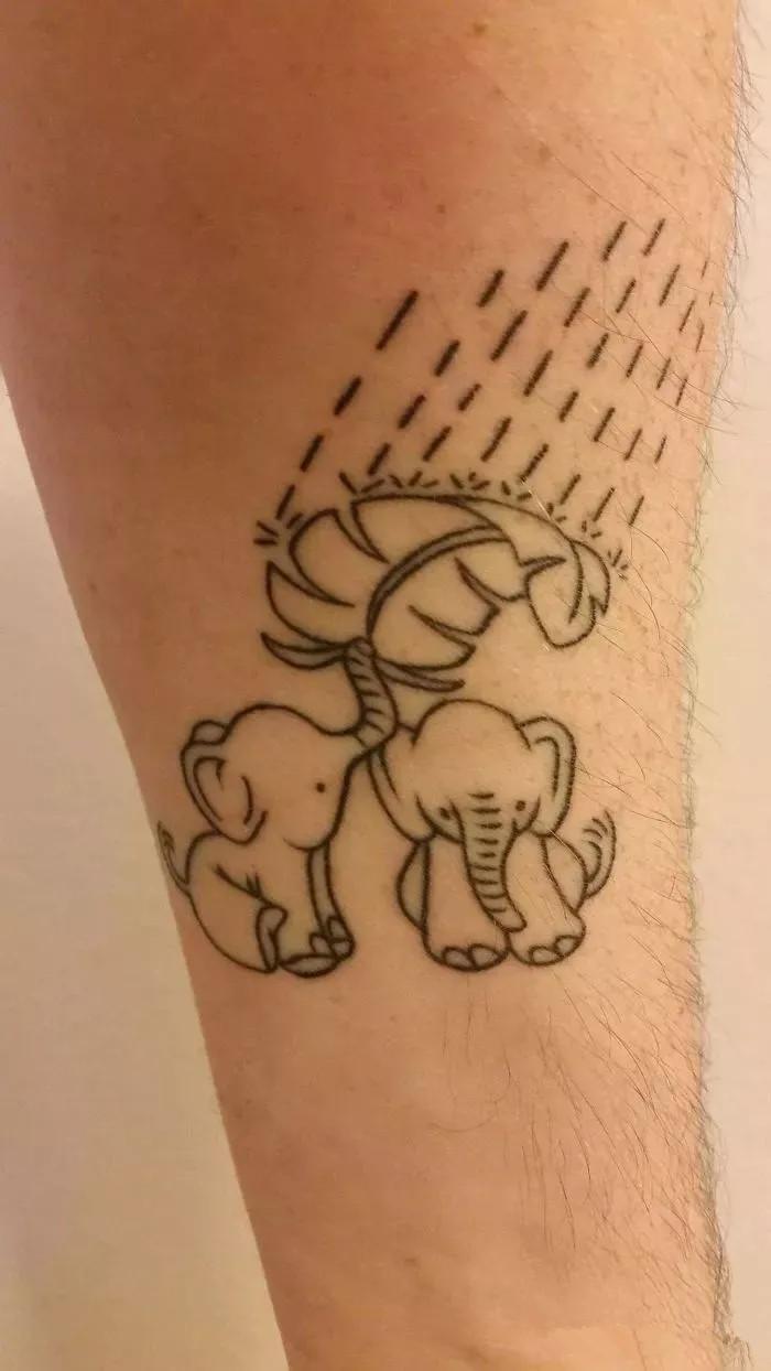 纹身 纹身不是只为耍酷!也可以让人感动流泪.
